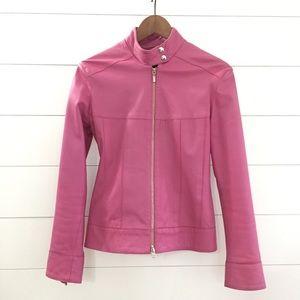 OSCAR LEOPOLD Gorgeous Pink Lambskn Leather Jacket
